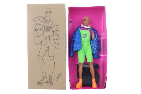 Barbie BMP1959 Ken se zelenými vlasy módní deluxe GHT96