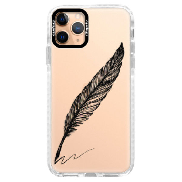 Silikonové pouzdro Bumper iSaprio - Writing By Feather - black - iPhone 11 Pro
