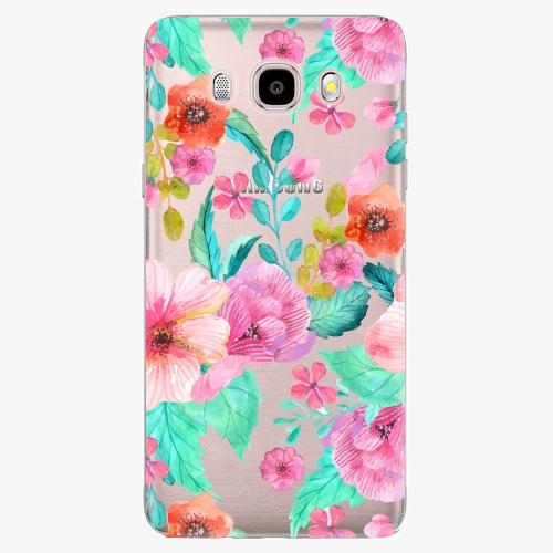 Silikonové pouzdro iSaprio - Flower Pattern 01 - Samsung Galaxy J5 2016