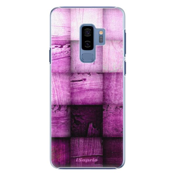 Plastové pouzdro iSaprio - Purple Squares - Samsung Galaxy S9 Plus