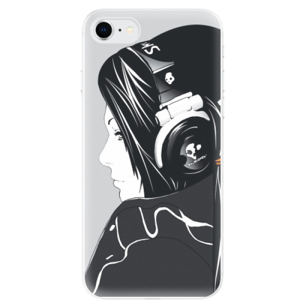 Odolné silikonové pouzdro iSaprio - Headphones - iPhone SE 2020