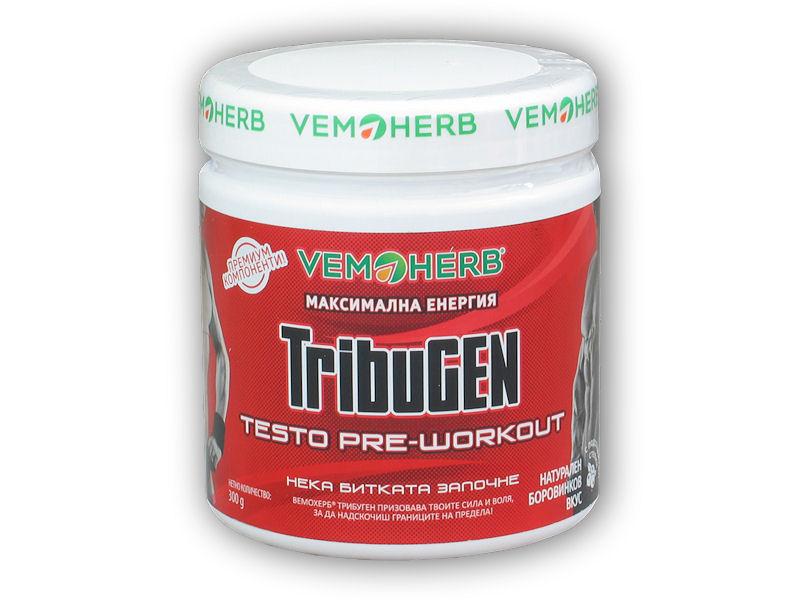 VemoHerb TribuGen Testo Preworkout 300g-boruvka