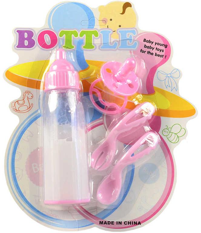 Souprava kojenecká pro miminko set 2 lžičky s dudlíkem a kouzelnou lahvičkou
