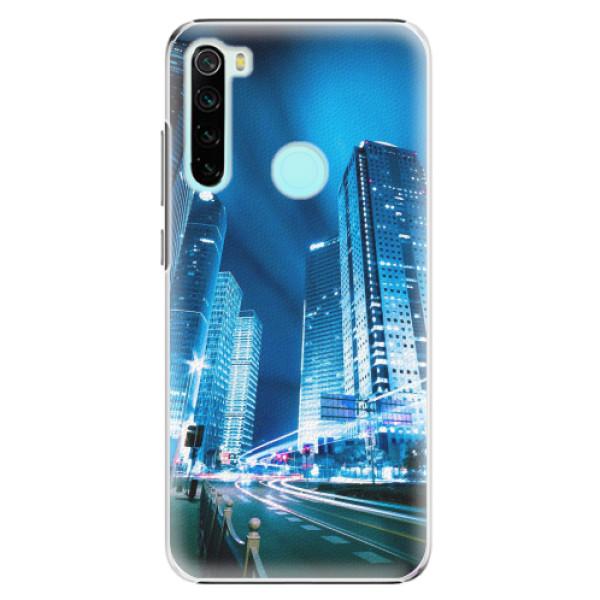 Plastové pouzdro iSaprio - Night City Blue - Xiaomi Redmi Note 8