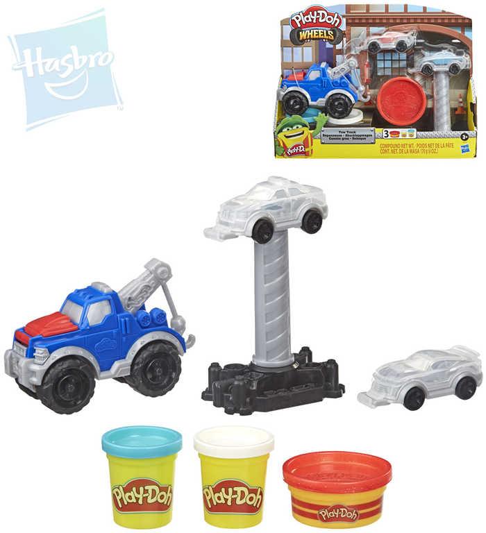 HASBRO PLAY-DOH Odtahový vůz kreativní set modelína 3 kelímky s doplňky