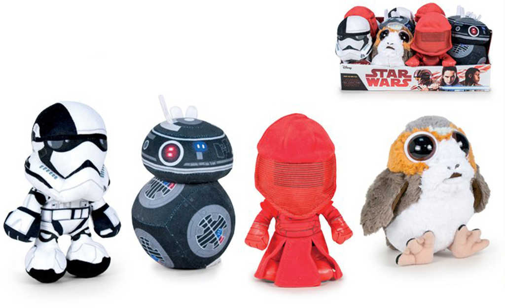 PLYŠ Postavička Star Wars 18cm 4 druhy *PLYŠOVÉ HRAČKY*