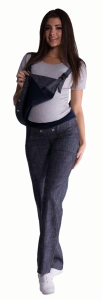 Be MaaMaa Těhotenské kalhoty s láclem - světlý