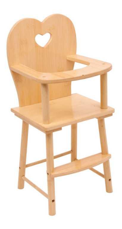 Small Foot Dřevěná židlička pro panenky přírodní