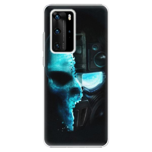 Plastové pouzdro iSaprio - Roboskull - Huawei P40 Pro