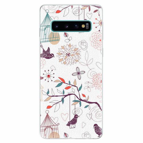 Silikonové pouzdro iSaprio - Birds - Samsung Galaxy S10