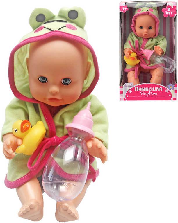 Panenka Bambolina miminko 30 cm set s kachničkou a kojeneckou lahvičkou