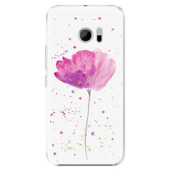 Plastové pouzdro iSaprio - Poppies - HTC 10