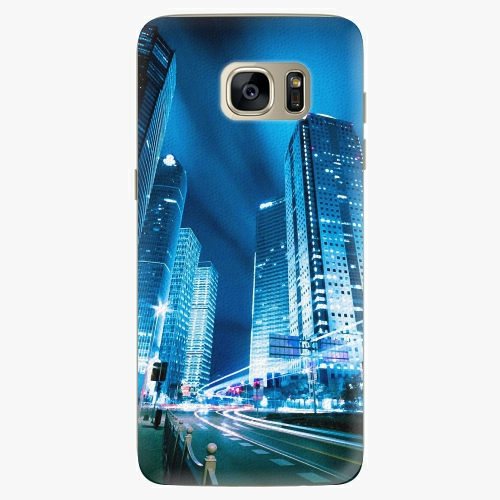 Plastový kryt iSaprio - Night City Blue - Samsung Galaxy S7