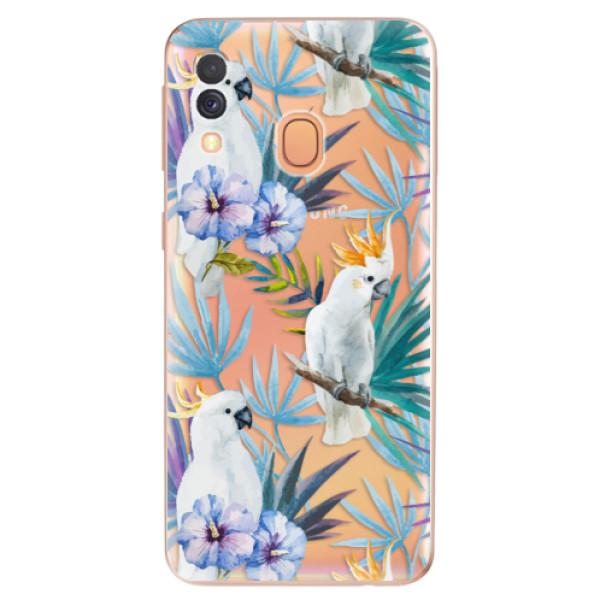 Odolné silikonové pouzdro iSaprio - Parrot Pattern 01 - Samsung Galaxy A40