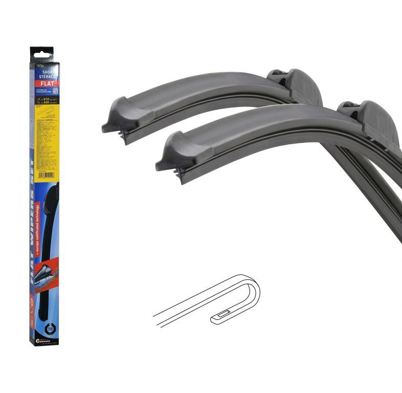 Stěrače FLAT SET (HOOK) 610 + 450 mm