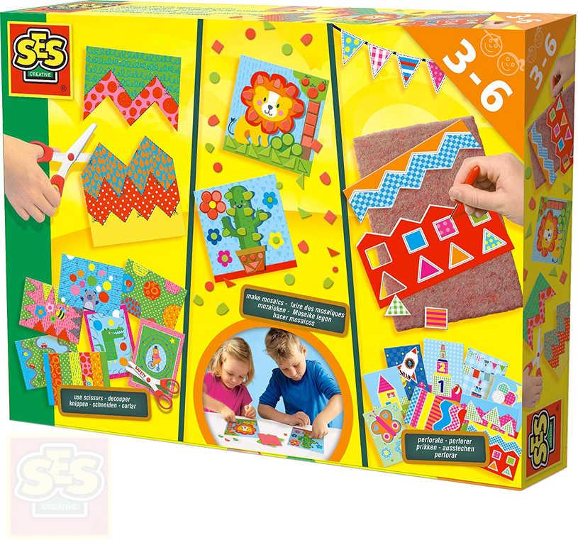 SES CREATIVE Velká dětská kreativní sada s nůžkami v krabici
