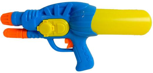Pistole vodní stříkací 28cm se zásobníkem na vodu různé barvy