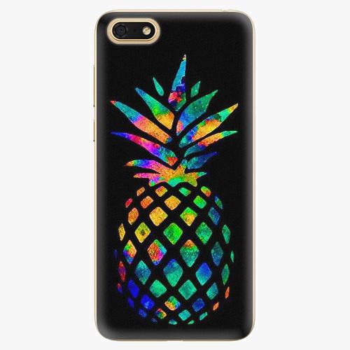Plastový kryt iSaprio - Rainbow Pineapple - Huawei Honor 7S