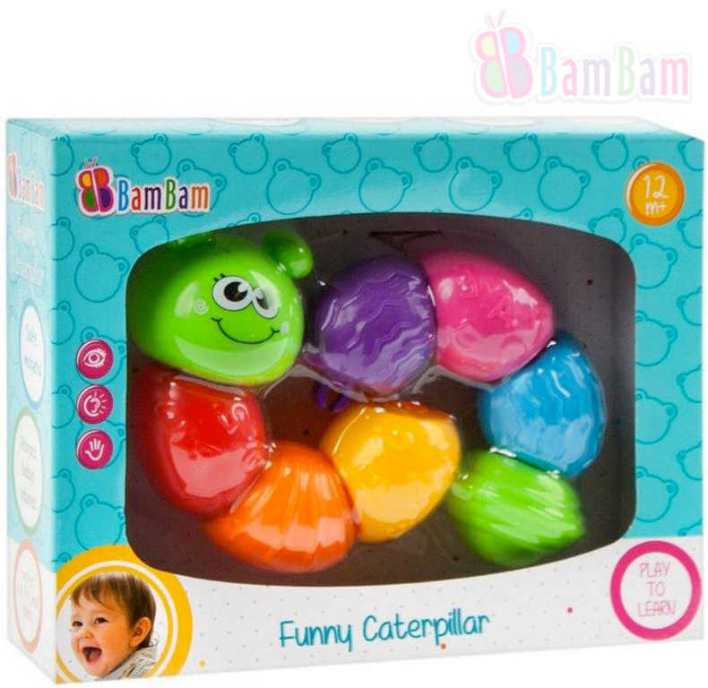 ET BAM BAM Baby housenka zábavná skládačka pro miminko