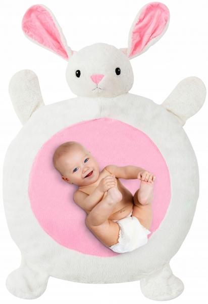 Plyšová hrací deka, podložka 67x78x5cm - Zajíček