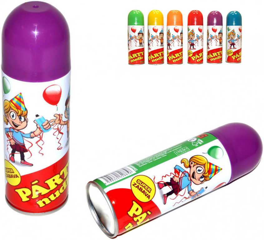Party nudle ve spreji 250ml doplněk na KARNEVAL 6 barev