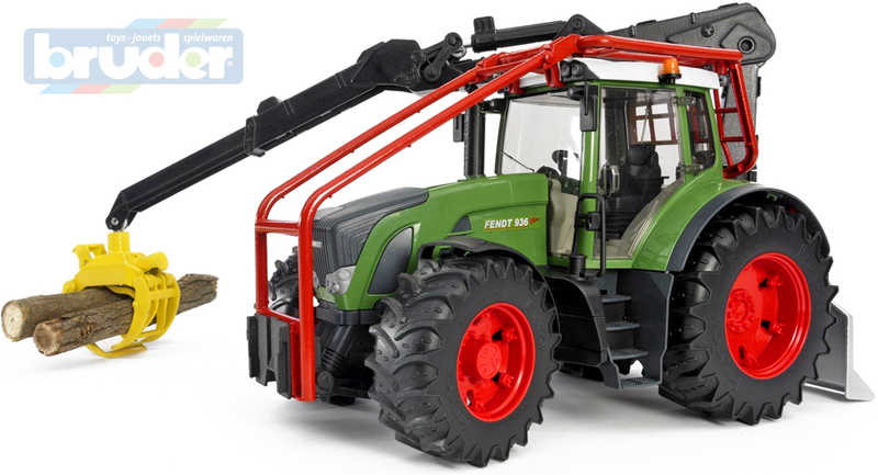 BRUDER 03042 Bworld Traktor lesní FENDT 936 VARIO