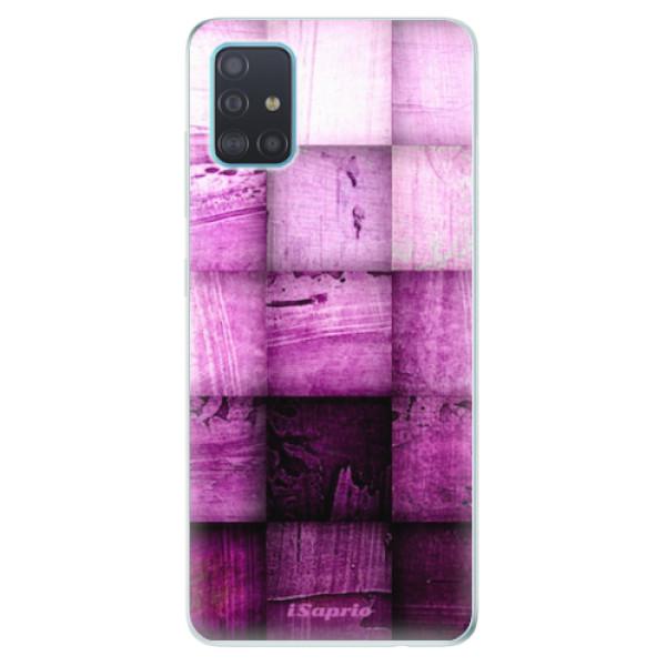 Odolné silikonové pouzdro iSaprio - Purple Squares - Samsung Galaxy A51