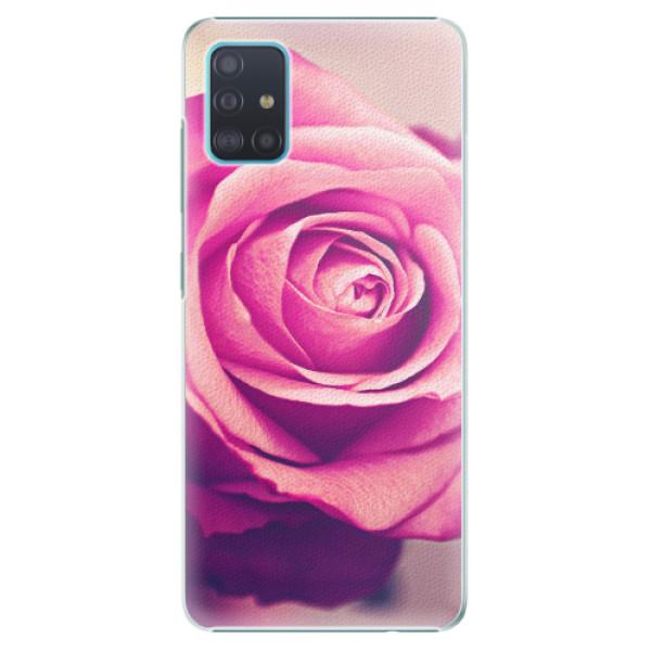 Plastové pouzdro iSaprio - Pink Rose - Samsung Galaxy A51