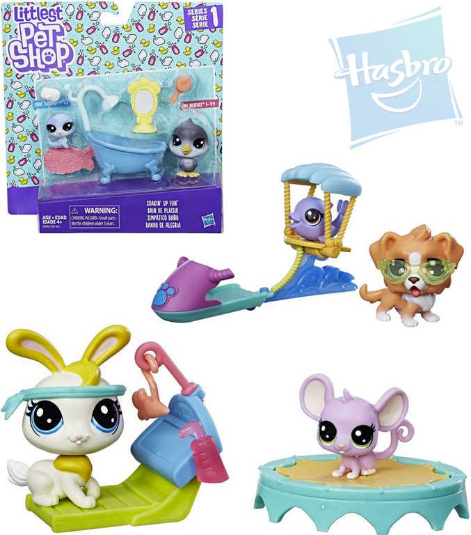 HASBRO LPS Littlest Pet Shop set tématický zvířátko 2ks s doplňky 3 druhy plast