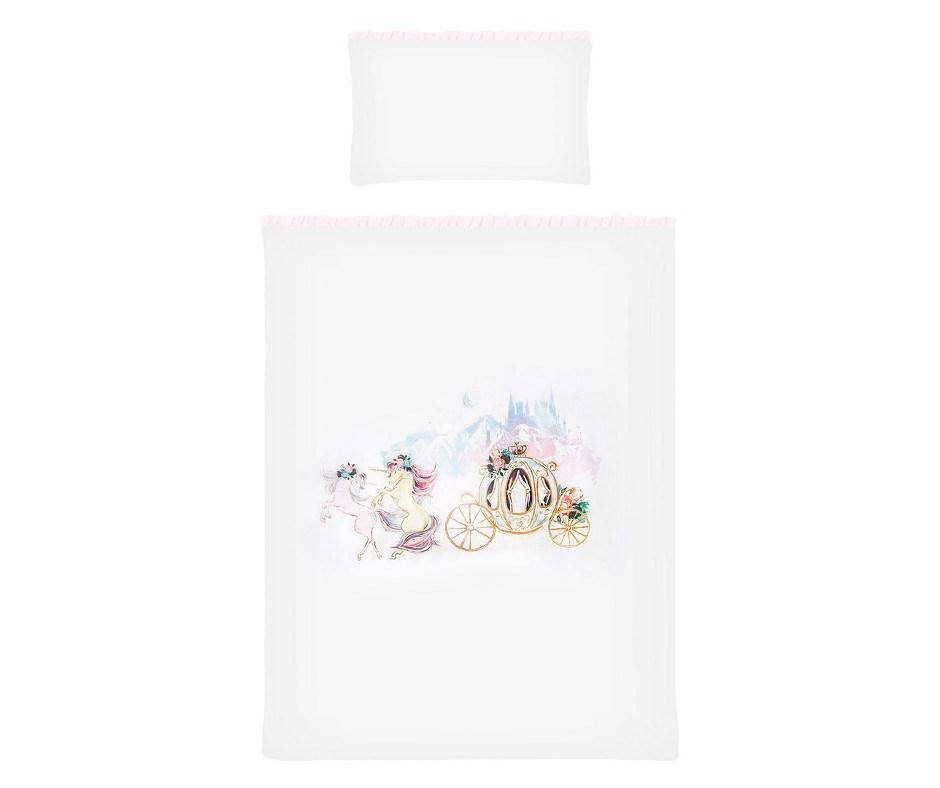 2-dílné ložní povlečení Belisima Unicorn 90/120 - růžová
