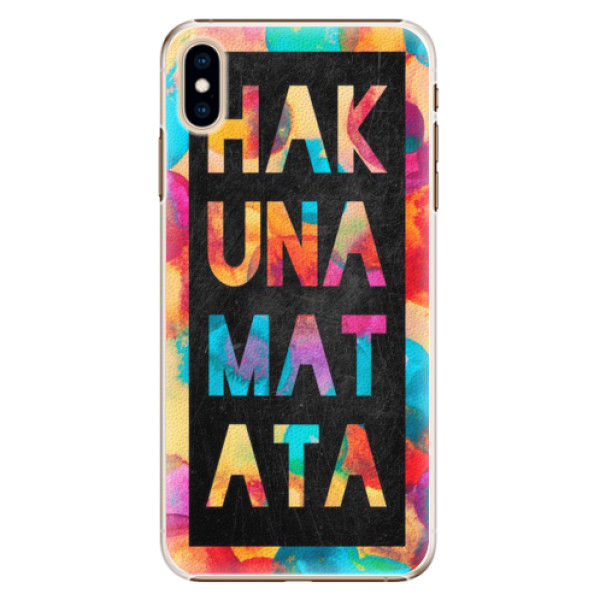 Plastové pouzdro iSaprio - Hakuna Matata 01 - iPhone XS Max