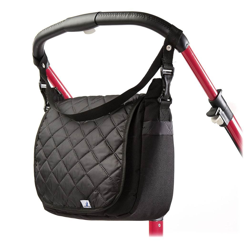 Prošívaná taška na kočárek CARETERO black - černá