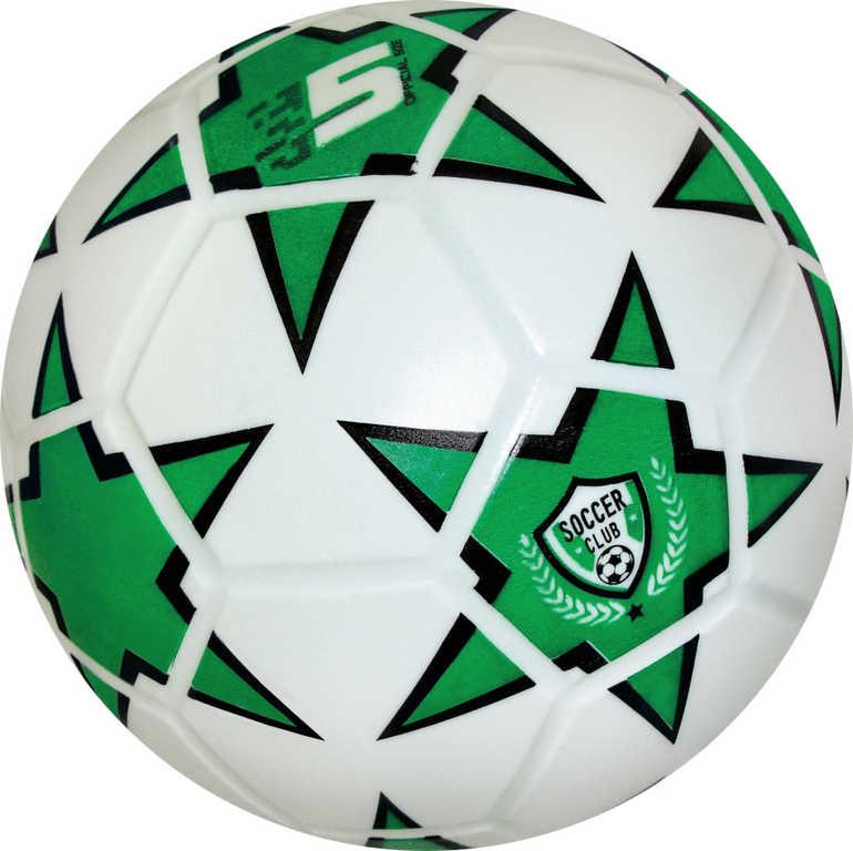 Míč Soccer Club fotbalový zelený 360g vel.5 do každého počasí