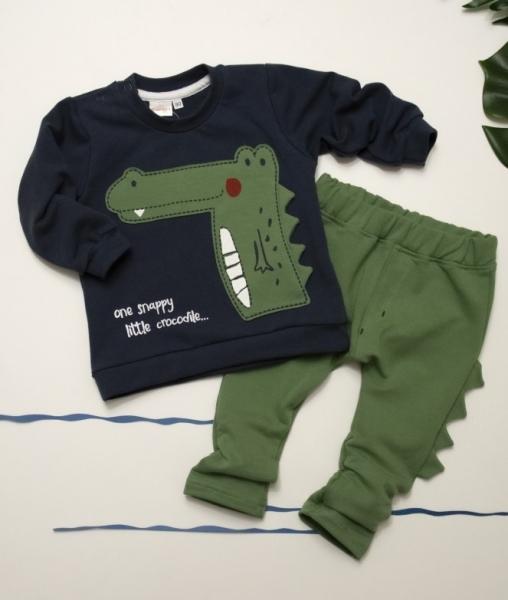 K-Baby Sada mikinka + tepláčky, Krokodýl - tm.