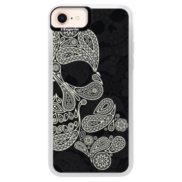 Neonové pouzdro Pink iSaprio - Mayan Skull - iPhone 8