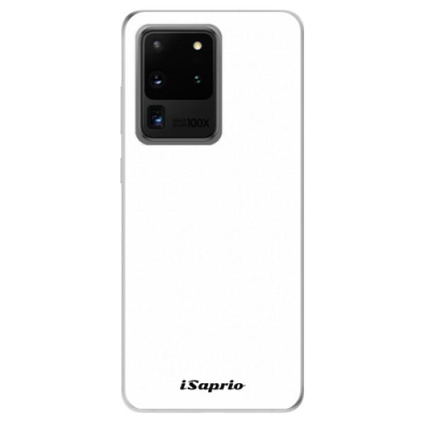 Odolné silikonové pouzdro iSaprio - 4Pure - bílý - Samsung Galaxy S20 Ultra