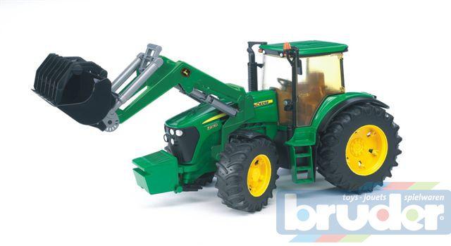 BRUDER 03051 (3051) Traktor John Deere + čelní nakladač