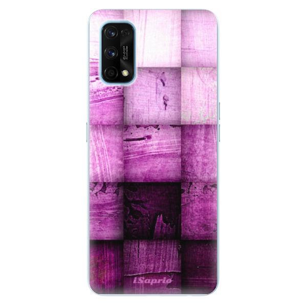 Odolné silikonové pouzdro iSaprio - Purple Squares - Realme 7 Pro