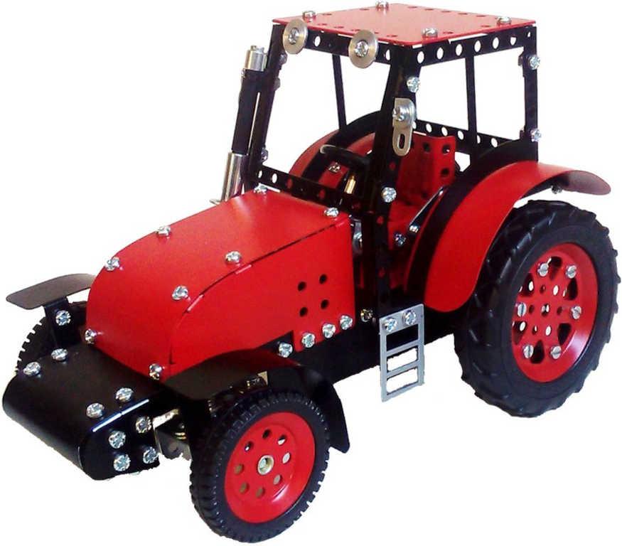 MERKUR Zetor základní set traktor + vlek 646 dílků *KOVOVÁ STAVEBNICE*