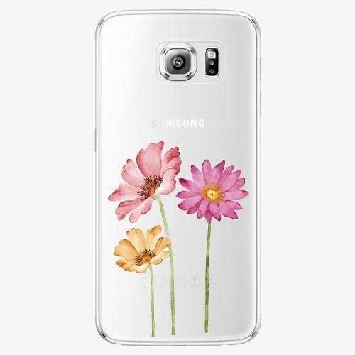 Plastový kryt iSaprio - Three Flowers - Samsung Galaxy S6