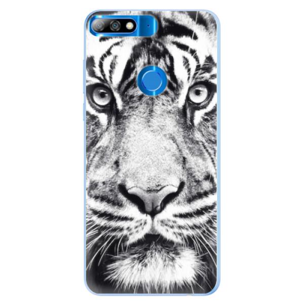 Silikonové pouzdro iSaprio - Tiger Face - Huawei Y7 Prime 2018