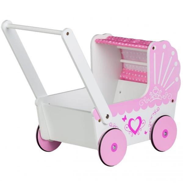 eco-toys-dreveny-kocarek-pro-panenky-srdce-ruzovy