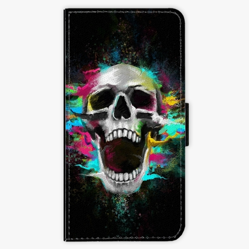 Flipové pouzdro iSaprio - Skull in Colors - iPhone 6 Plus/6S Plus