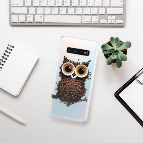 Odolné silikonové pouzdro iSaprio - Owl And Coffee - Samsung Galaxy S10+