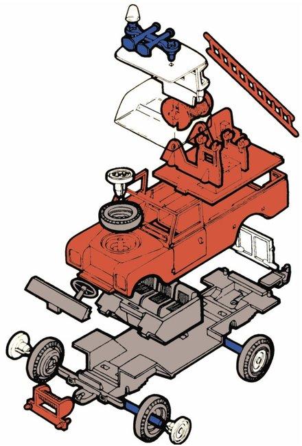 MONTI SYSTÉM 03 Auto Land Rover TEAM 21 stavebnice MS03 0101-3