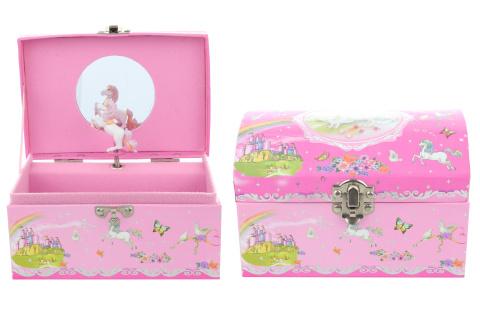 Hrací skříňka šperkovnice jednorožec