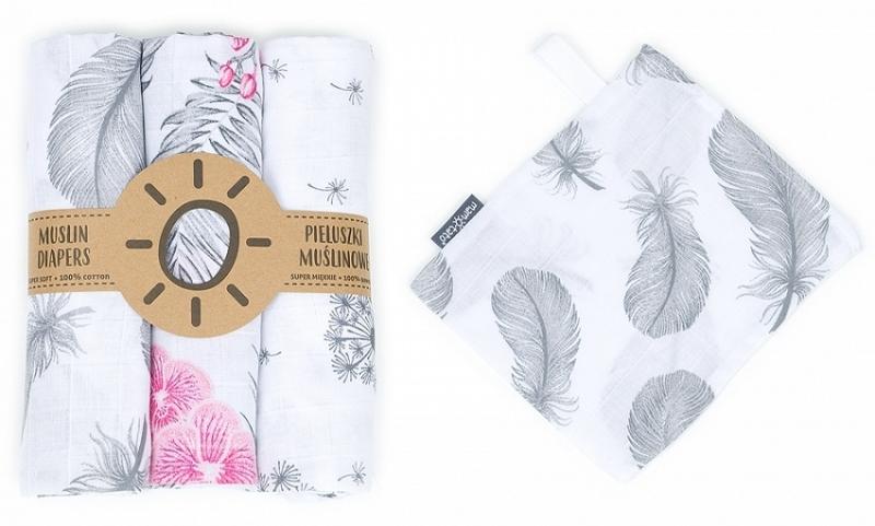mamo-tato-muselinove-plenky-3ks-zinka-zdarma-pampeliska-kvety-pirka