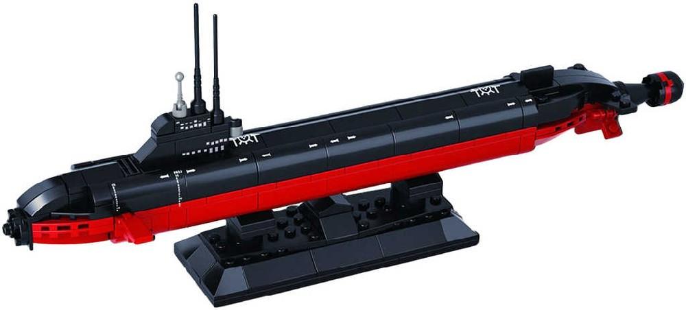 SLUBAN Stavebnice BITEVNÍ LODĚ model nukleární ponorka 193 dílků plast