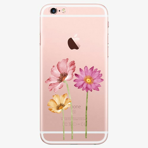 Silikonové pouzdro iSaprio - Three Flowers - iPhone 7