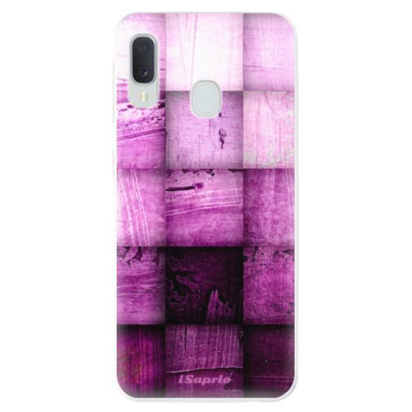 Odolné silikonové pouzdro iSaprio - Purple Squares - Samsung Galaxy A20e
